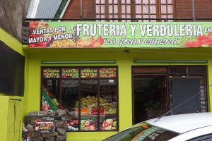 Fruteria = Friut Verdura = vegies The most colorful stores!