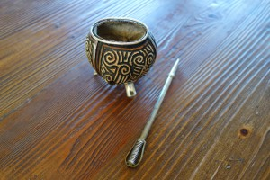 Mate gourd and silver straw