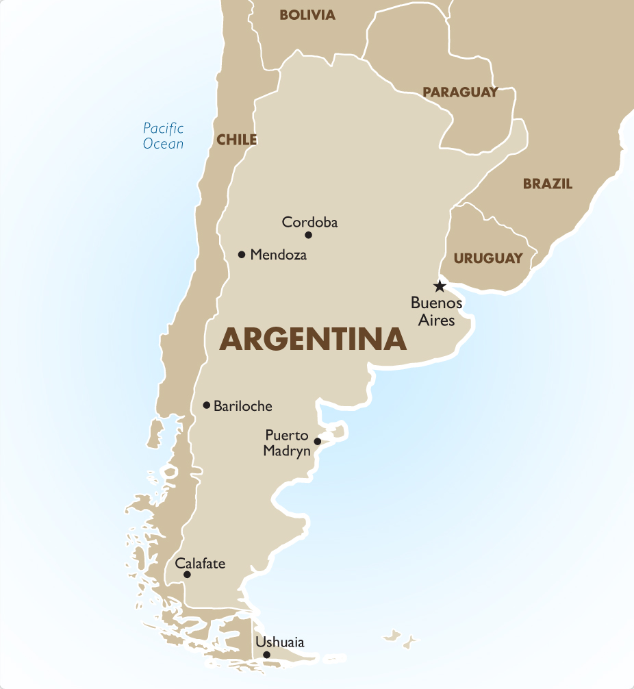 Heading East To Puerto Madryn Argentina South America Drive - Argentina map puerto madryn